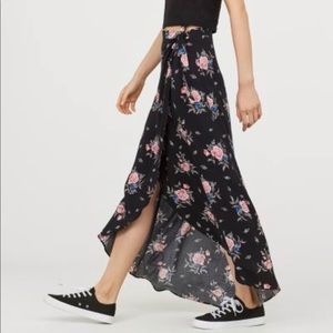 H&M long wrap front skirt. New with tags